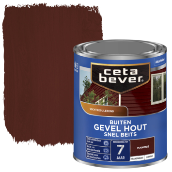 Cetabever snel beits gevel & kozijn transparant mahonie zijdemat 750 ml