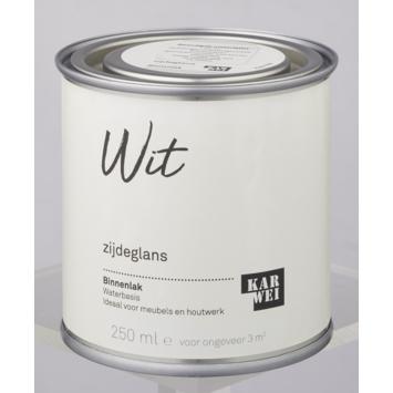 Karwei binnenlak zijdeglans 250 ml wit