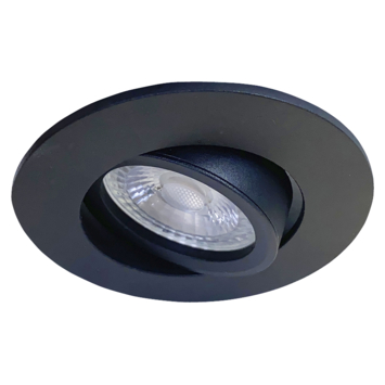 Karwei inbouwspot rond zwart