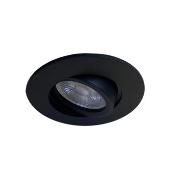 Karwei inbouwspot rond zwart set van 3