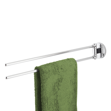 Handson Smart 2-armig handdoekrek Chroom