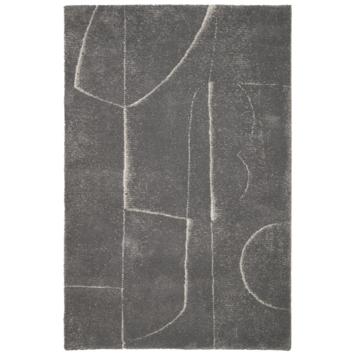 vtwonen Abstract Vloerkleed grijs 160x230 cm gerecycled garen
