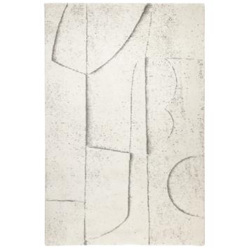 vtwonen Abstract Vloerkleed crème/ beige 160x230 cm gerecycled garen