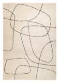 vtwonen Doodle Vloerkleed crème/ zwart 160x230 cm