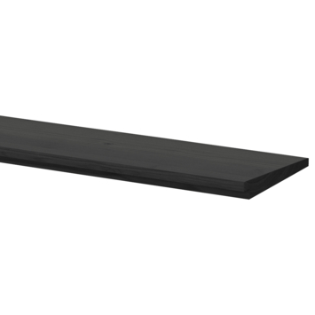Zweeds rabat antraciet ca. 1,2/2,7x19cm, lengte ca. 240 cm