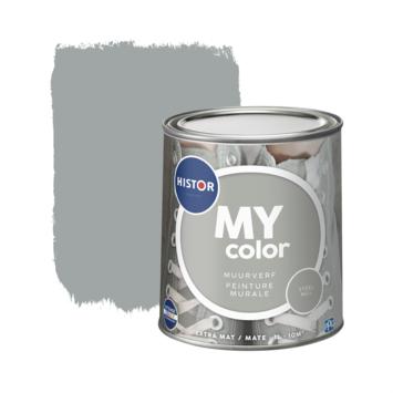 Histor My Color muurverf extra mat steel mill 1 liter