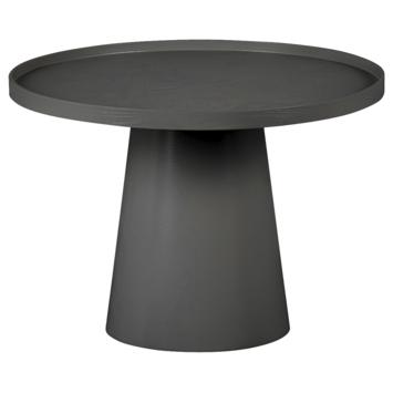 Salontafel Misty rond zwart