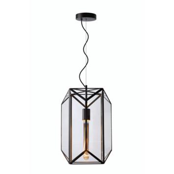 Lucide Fern Hanglamp Zwart /Glas Ø28 cm
