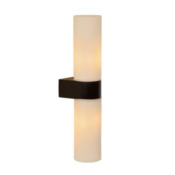 Lucide badkamer wandlamp 2-lichts Jesse IP44 zwart