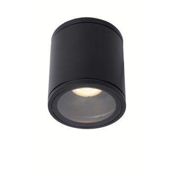 Lucide badkamer spot Aven IP65 zwart rond