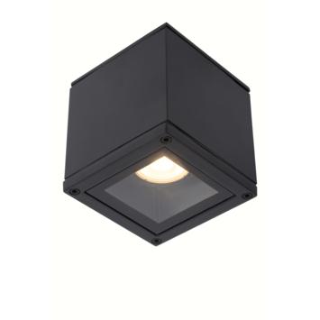 Lucide badkamer spot Aven IP65 zwart vierkant
