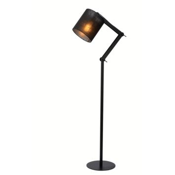 Lucide Tampa Vloerlamp Zwart
