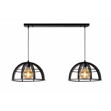 Lucide Dikra Hanglamp 2xE27 Zwart Ø 40 cm