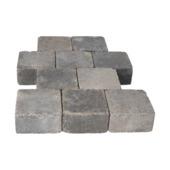 Trommelsteen Beton Grijs/Zwart 14x14x7 cm - 45 Stuks / 0,88 m2