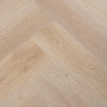 Le Noir et Blanc Click PVC Stretto Beige Eiken visgraat 4V-groef 5.5 mm 1,35 m2