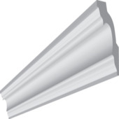 Inspirations sierlijst Genova 50 2x 2 meter wit 2 stuks