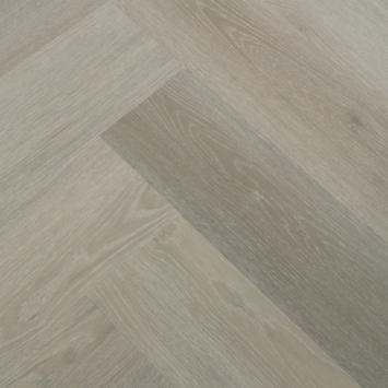 Le Noir et Blanc Click PVC Stretto Grijs Bruin Eiken visgraat 4V-groef 5.5 mm 1,35 m2