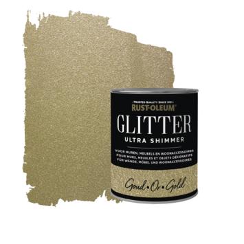 Rust-Oleum glitterverf ultra shimmer gold 750 ml