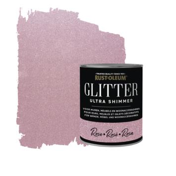 Rust-Oleum glitterverf ultra shimmer rose 750 ml