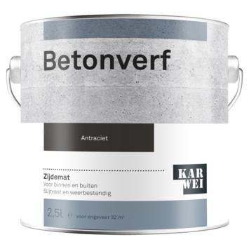 KARWEI betonverf zijdemat antraciet 2,5 liter