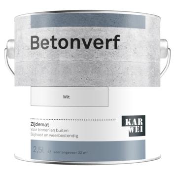 KARWEI betonverf zijdemat wit 2,5 liter