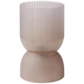 Tafellamp Jonne bruin  Ø12x19,5 cm