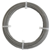 Ledent staaldraad grijs Ø2 mm / 10 m
