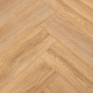 Laminaat Grand Oak visgraat Grijsbruin eiken 4V-groef 8 mm 1,24 m2