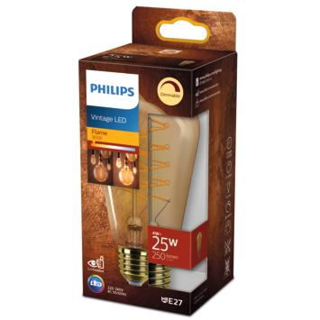 Philips LED edison E27 25W filament goud spiraal dimbaar