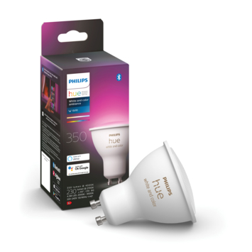 Philips Hue White en Color Ambiance spot GU10 met bluetooth