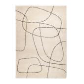 vtwonen Doodle Vloerkleed crème/ zwart 200x290 cm