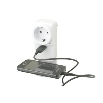 Exin stekker RA met USB wit