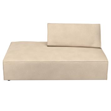Modulaire bank James chaise longue grof geweven beige