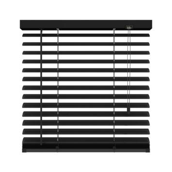 KARWEI horizontale aluminium jaloezie 50 mm mat zwart (320) 200 x 180 cm