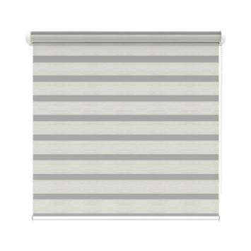 KARWEI roljaloezie streep wit/grijs melee (4404) 160x160 cm (bxh)