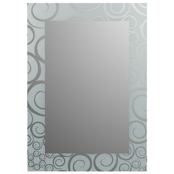 Plieger Art-line spiegel met kader - spiralen - 70 x 50 cm