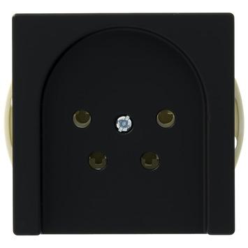 Busch-Jaeger Future Linear stopcontact telefonie zwart