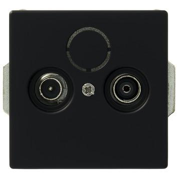 Busch-Jaeger Future Linear stopcontact coax universeel zwart