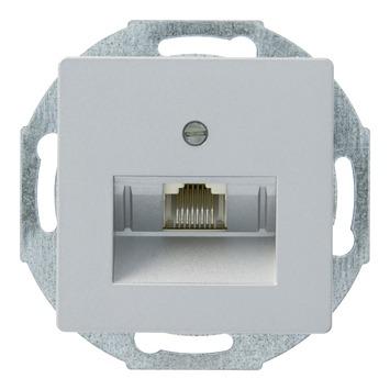 Siemens Delta stopcontact telefoniemodulair aluminium