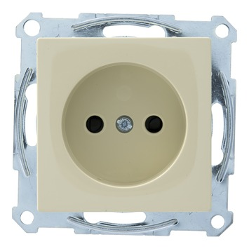 Schneider Electric System-M enkel stopcontact crème