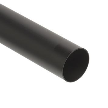 28 mm gordijnroede mat zwart 240 cm