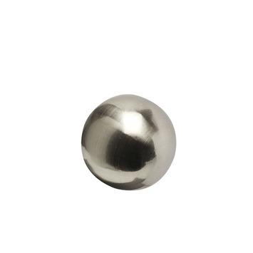 Eindknop Bol voor 20 mm gordijnroede RVS kleur 2 stuks