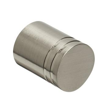 Eindknop Cilinder voor 20 mm gordijnroede RVS kleur 2 stuks