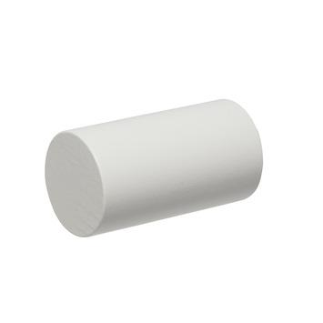 Eindknop Rond voor 28 mm gordijnroede wit hout 2 stuks