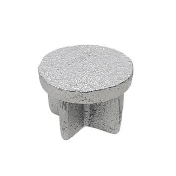 Gordijnroede steigerbuis Ø28 mm industrieel knop eindkap
