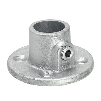 Gordijnroede steigerbuis Ø28 mm industrieel steun in de dag