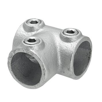 Gordijnroede steigerbuis Ø28 mm industrieel T-verbinder