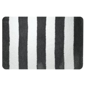 Sealskin Linje badmat grijs met wit 60 x 90 cm