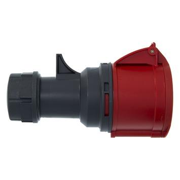 Cee Contrastekker 5-polig RA 32 A 400 V Rood