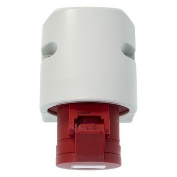 Cee 4-polig geaard stopcontact 400V grijs